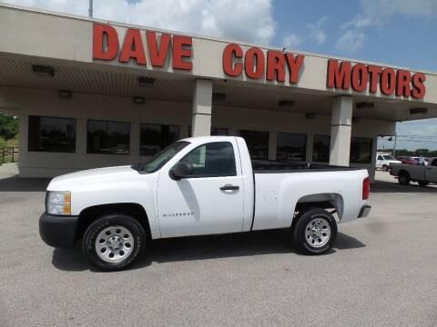 2010 Chevrolet Silverado 1500 for sale at DAVE CORY MOTORS in Houston TX