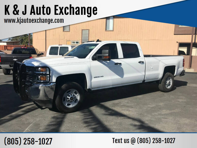 2016 Chevrolet Silverado 2500HD for sale at K & J Auto Exchange in Santa Paula CA