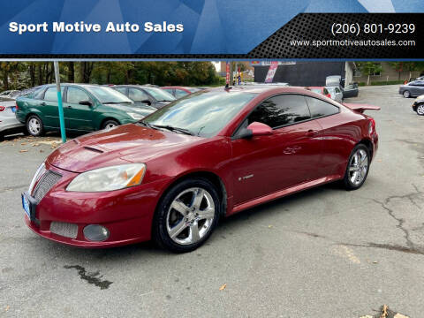 2008 Pontiac G6 for sale at Sport Motive Auto Sales in Seattle WA