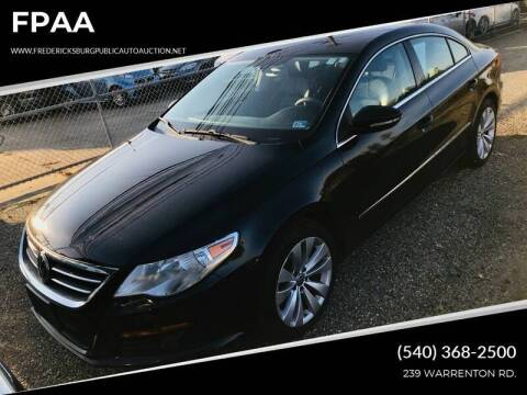 2009 Volkswagen CC for sale at FPAA in Fredericksburg VA