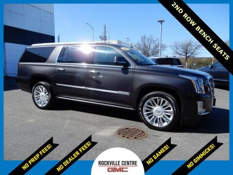 2018 Cadillac Escalade ESV for sale at Rockville Centre GMC in Rockville Centre NY