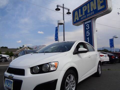 2013 Chevrolet Sonic for sale at Alpine Auto Sales in Salt Lake City UT