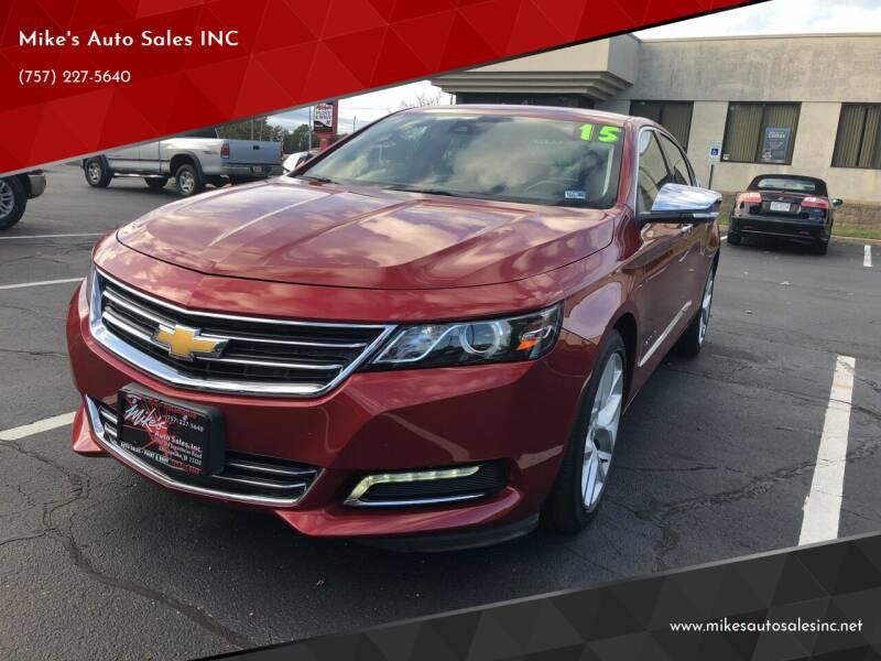 2015 Chevrolet Impala for sale at Mike's Auto Sales INC in Chesapeake VA