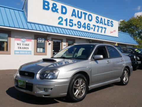2005 Subaru Impreza for sale at B & D Auto Sales Inc. in Fairless Hills PA