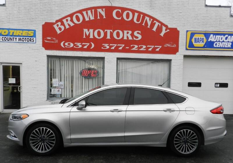 2017 Ford Fusion for sale at Brown County Motors in Russellville OH