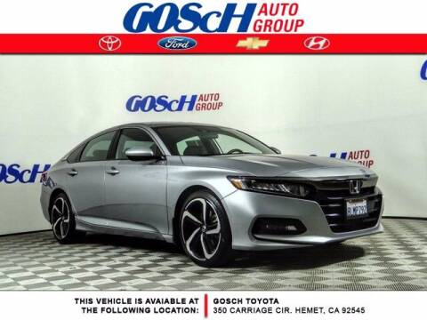 2019 Honda Accord for sale at BILLY D SELLS CARS! in Temecula CA
