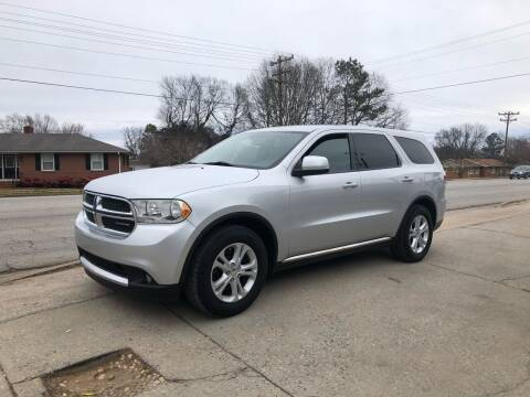 2011 Dodge Durango for sale at E Motors LLC in Anderson SC