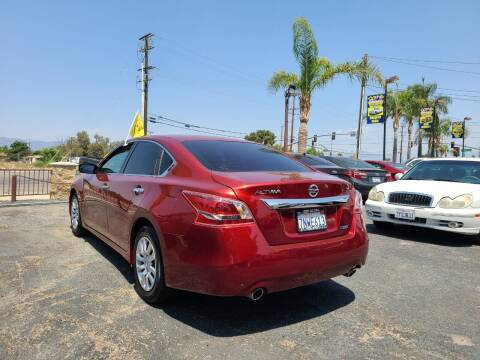2013 Nissan Altima for sale at E and M Auto Sales in Bloomington CA