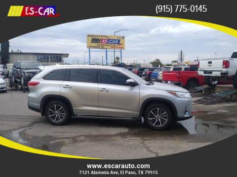 2018 Toyota Highlander for sale at Escar Auto in El Paso TX