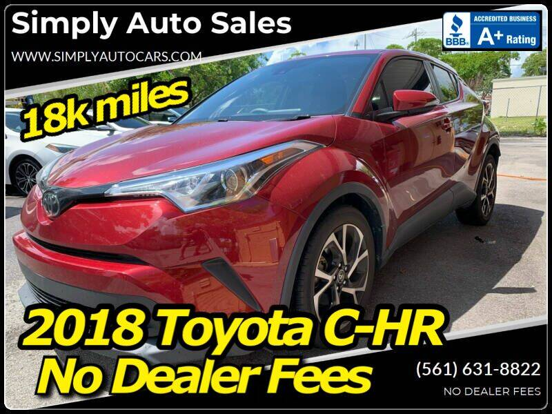2018 Toyota C-HR for sale at Simply Auto Sales in Palm Beach Gardens FL