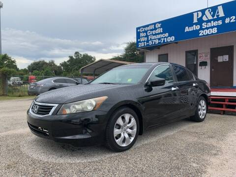 2009 Honda Accord for sale at P & A AUTO SALES in Houston TX
