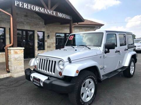 2012 Jeep Wrangler Unlimited for sale at Performance Motors Killeen Second Chance in Killeen TX