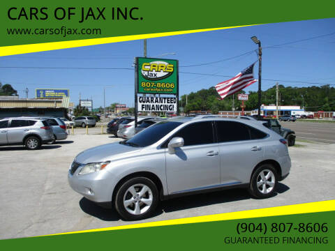 2012 Lexus RX 350 for sale at CARS OF JAX INC. in Jacksonville FL