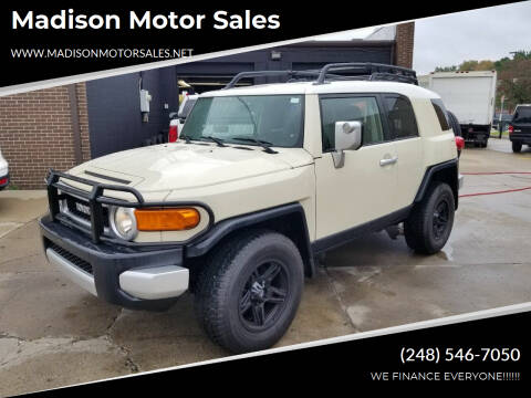 2008 Toyota FJ Cruiser for sale at Madison Motor Sales in Madison Heights MI