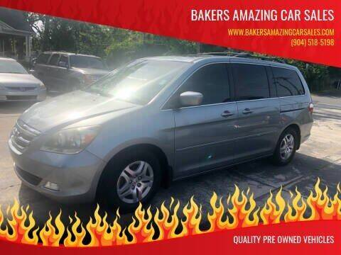 2007 Honda Odyssey for sale at Bakers Amazing Car Sales in Jacksonville FL