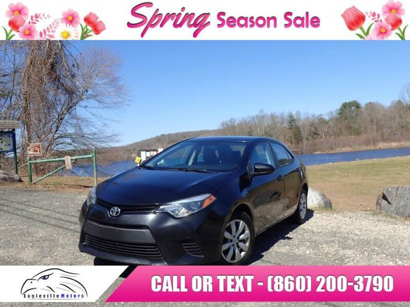2014 Toyota Corolla for sale at EAGLEVILLE MOTORS LLC in Storrs CT