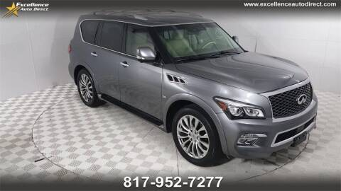 2015 Infiniti QX80 for sale at Excellence Auto Direct in Euless TX