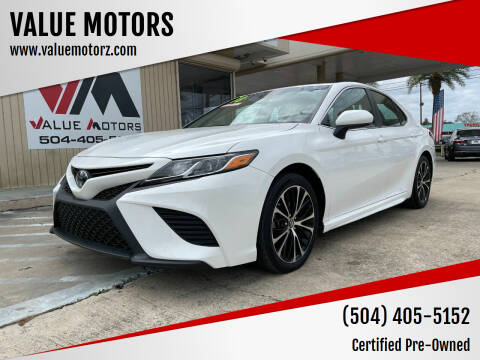 2018 Toyota Camry for sale at VALUE MOTORS in Kenner LA