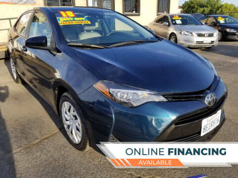 2018 Toyota Corolla for sale at Super Cars Sales Inc #1 in Oakdale CA