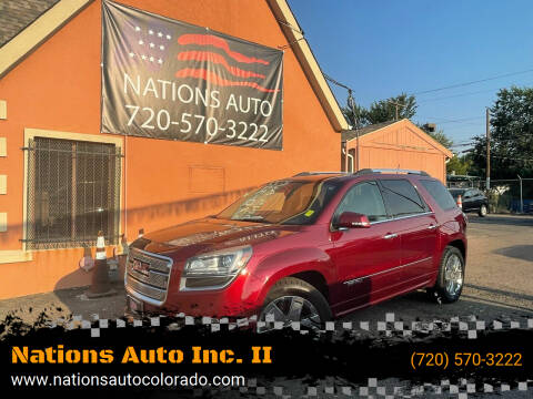 2015 GMC Acadia for sale at Nations Auto Inc. II in Denver CO