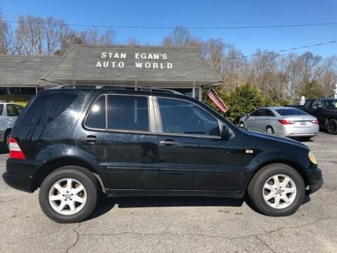 2000 Mercedes-Benz M-Class for sale at STAN EGAN'S AUTO WORLD, INC. in Greer SC
