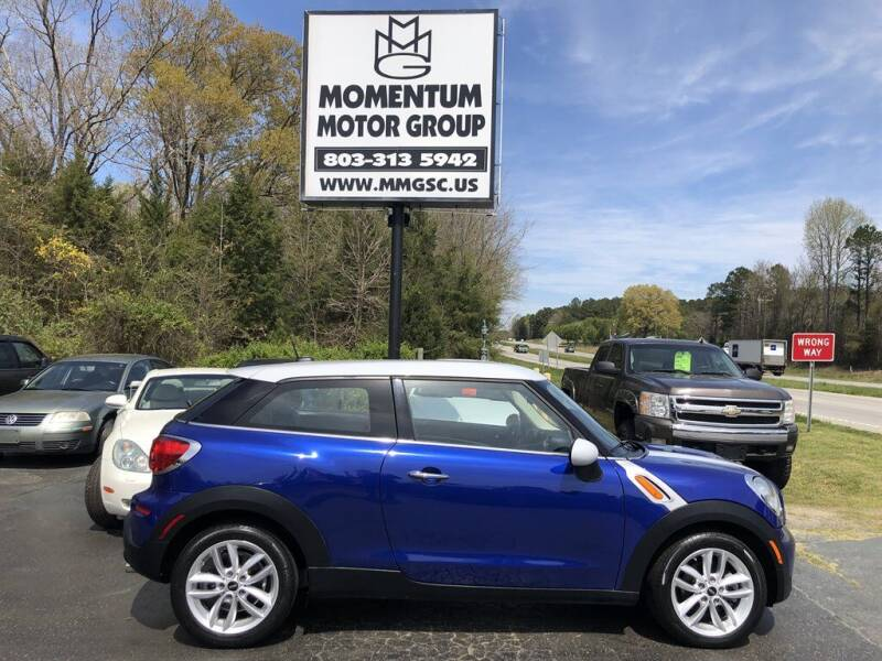 2013 MINI Paceman for sale at Momentum Motor Group in Lancaster SC