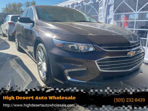 2016 Chevrolet Malibu for sale at High Desert Auto Wholesale in Albuquerque NM