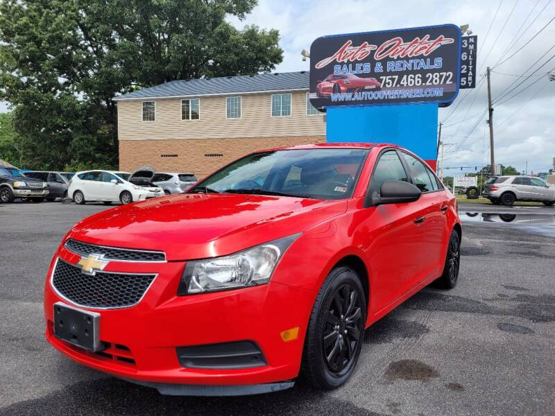 2014 Chevrolet Cruze for sale at Auto Outlet Sales and Rentals in Norfolk VA