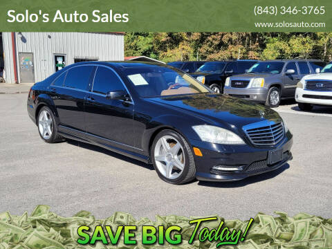 2010 Mercedes-Benz S-Class for sale at Solo's Auto Sales in Timmonsville SC