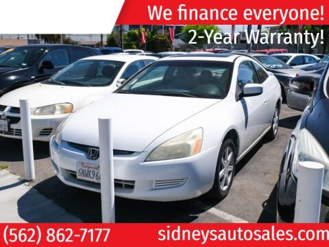 2003 Honda Accord for sale at Sidney Auto Sales in Downey CA