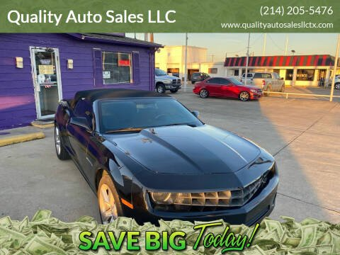 2012 Chevrolet Camaro for sale at Quality Auto Sales LLC in Garland TX