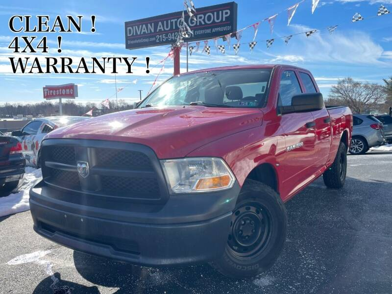 2012 RAM Ram Pickup 1500 for sale at Divan Auto Group in Feasterville PA