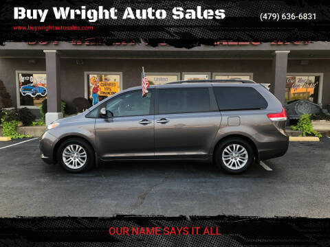2013 Toyota Sienna for sale at Buy Wright Auto Sales in Rogers AR