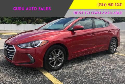2017 Hyundai Elantra for sale at Guru Auto Sales in Miramar FL