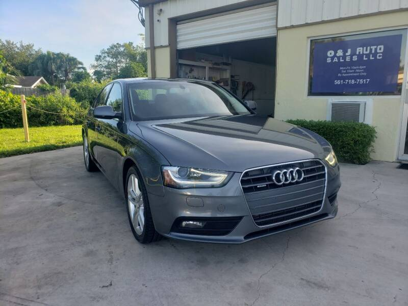 2014 Audi A4 for sale at O & J Auto Sales in Royal Palm Beach FL