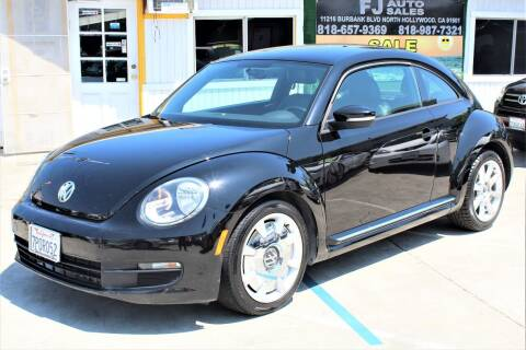 2012 Volkswagen Beetle for sale at FJ Auto Sales in North Hollywood CA