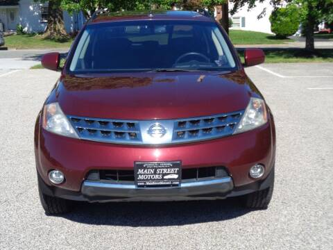 2007 Nissan Murano for sale at MAIN STREET MOTORS in Norristown PA