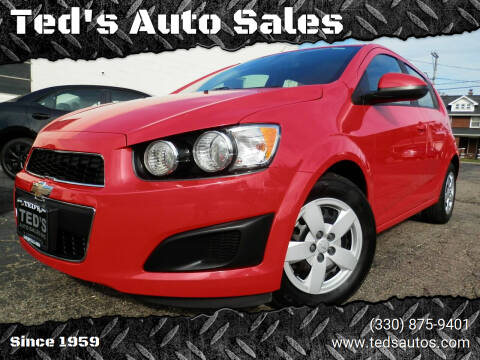 2016 Chevrolet Sonic for sale at Ted's Auto Sales in Louisville OH