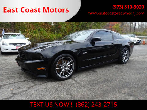 2012 Ford Mustang for sale at East Coast Motors in Lake Hopatcong NJ
