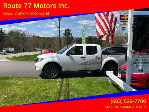 2012 Nissan Frontier for sale at Route 77 Motors Inc. in Weare NH