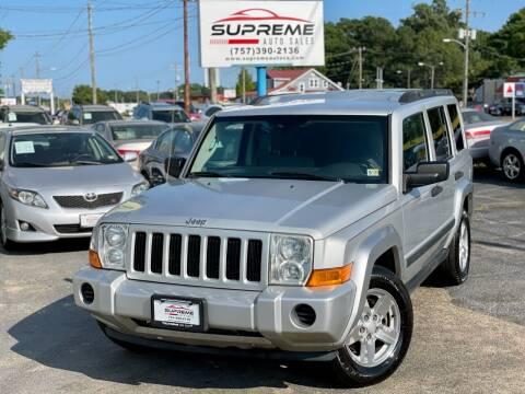 2006 Jeep Commander for sale at Supreme Auto Sales in Chesapeake VA