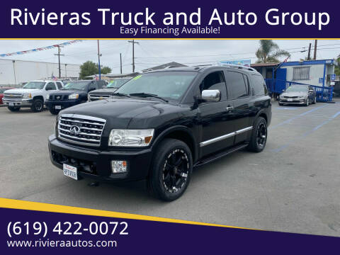 2010 Infiniti QX56 for sale at Rivieras Truck and Auto Group in Chula Vista CA