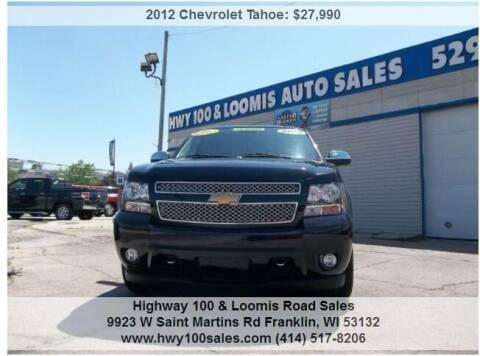 2012 Chevrolet Tahoe for sale at Highway 100 & Loomis Road Sales in Franklin WI