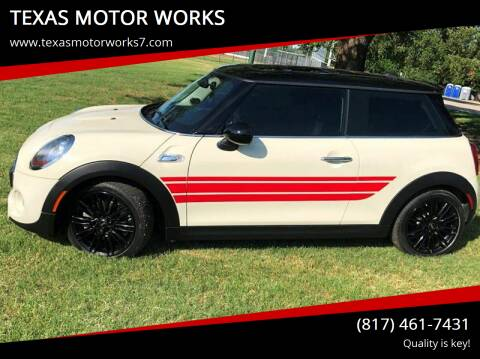 2018 MINI Hardtop 2 Door for sale at TEXAS MOTOR WORKS in Arlington TX