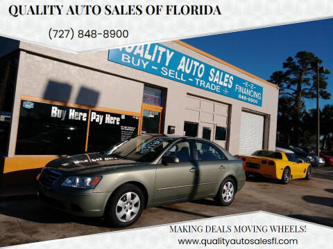 2009 Hyundai Sonata for sale at QUALITY AUTO SALES OF FLORIDA in New Port Richey FL
