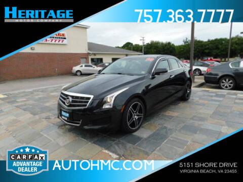 2014 Cadillac ATS for sale at Heritage Motor Company in Virginia Beach VA
