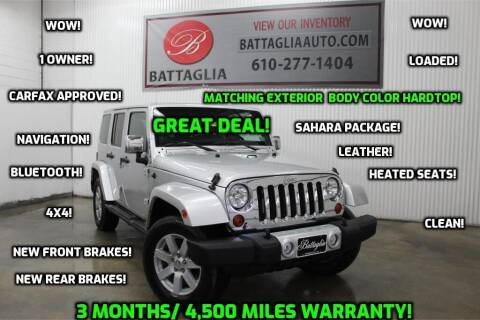 2012 Jeep Wrangler Unlimited for sale at Battaglia Auto Sales in Plymouth Meeting PA