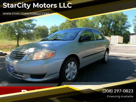2004 Toyota Corolla for sale at StarCity Motors LLC in Garden City ID