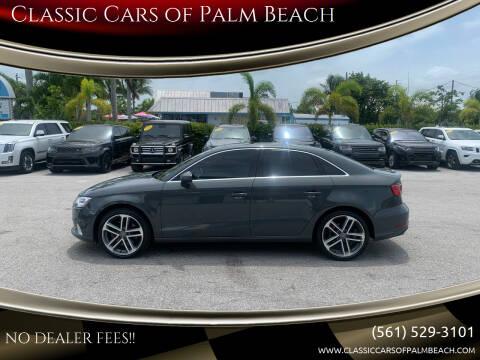 2019 Audi A3 for sale at Classic Cars of Palm Beach in Jupiter FL