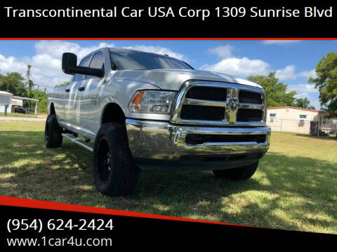 2013 RAM Ram Pickup 2500 for sale at Transcontinental Car in Fort Lauderdale FL